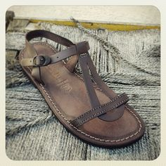 Sandals - Genuine Italian Style Leather Sandals in brown color