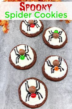 Spooky Spider Cookies perfect Halloween dessert