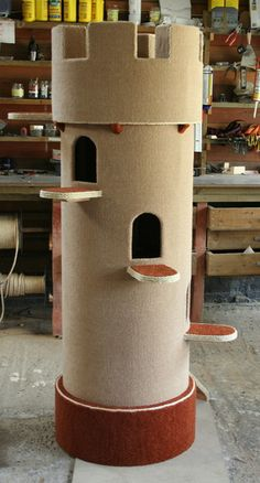 Castle tower.  should make a bigger one for the cat (^_^)