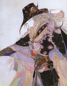 Vampire Hunter D illustration by Yoshitaka Amano