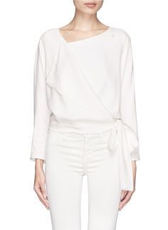 CHLOÉ Side tie wrap top