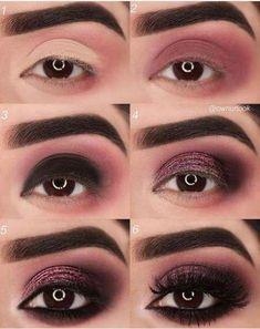 Eye Make-up Tutorial Step By Step Wine Red Originality makeup step by step makeup tutorial makeup natural makeup ideas Makeup Trends, Makeup Inspo, Makeup Inspiration, Makeup Tips, Makeup Products, Beauty Makeup, Makeup Ideas, Makeup Designs, Makeup Geek