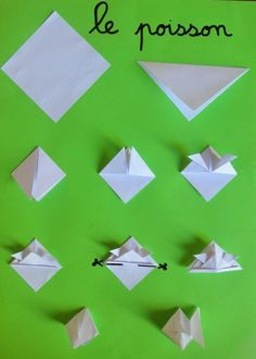 origami poisson et bateau Origami Frog, Origami Paper Crane, Origami Bird, Origami Flowers, Poisson D'avril Origami, Paper Plate Crafts For Kids, Paper Crafts, Origami Heart With Wings, Origami Decoration