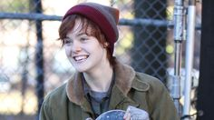 Elle Fanning is that you?! An unrecognizable Elle, 16, was snapped on the New York City set of her new film Three Generations on Nov. 10, 2014, in which she plays a transgender teen who is transitioning from female to male. The intense new film also stars Naomi Watts as Elle's mother, and Susan Sarandon as her grandmother.