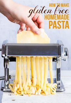 A simple and reliable homemade gluten free pasta recipe. Once you've tasted this gluten free pasta made from scratch, you'll never go back to the store-bought stuff. Perfect for a variety of gluten free lunch or dinner recipes! Gluten Free Noodles, Gluten Free Pasta, Gluten Free Baking, Vegan Gluten Free, Gluten Free Homemade Pasta, Paleo, Gf Recipes, Dairy Free Recipes, Spinach Recipes
