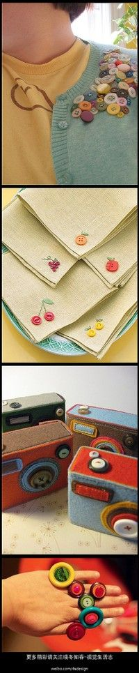 I like the ones on the napkins. They could be pins.