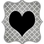 Free Printable Letters and Numbers-Gray and Black - DIY Swank