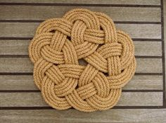 We love this table mat, made with a knot named after a biscuit! https://www.etsy.com/uk/listing/216819428/rustic-table-mat-kringle-knot-mat