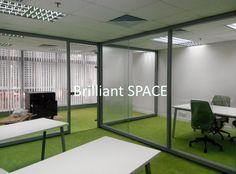 Glass System Wall 新蒲崗勤達中心 (1框雙清玻璃屏風) 5