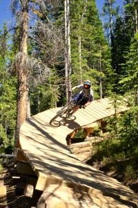 """Expert rider and bike shop mechanic Mike Taras tests the new """"Cruel and Unusual"""" trail at Winter Park's Trestle Bike Park. Jason Blevins, The Denver Post Mtb Trails, Mountain Bike Trails, Parkour, Kayaks, Mountian Bike, Kite Surf, Living In Colorado, Bike Parking, All Nature"""
