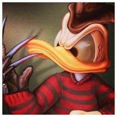 Donald Duck Freddy Krueger 2 iphone case