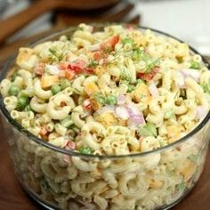 This Easy Macaroni Salad recipe is the perfect side dish to bring to Summer BBQ's, parties and more! Easy macaroni salad is loaded with veggies, cheese and more. You will love the creamy dressing. Easy Macaroni Salad, Elbow Macaroni Recipes, Easy Pasta Salad, Classic Macaroni Salad, Spaghetti Salad, Pasta Salad Recipes Cold, Simple Salad Recipes, Southern Macaroni Salad, Healthy Pasta Salad