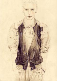 fashion illustration: Cedric Rivrain