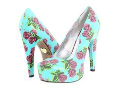 betsey johnson floral heels <3 <3