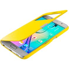 Yellow Window Slim Wallet Magnetic Flip Case Cover for Samsung Galaxy S6