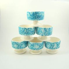 Mid Century Modern Set of Dessert Bowls from by ElizaBellaVintage