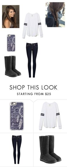 """""""Untitled #256"""" by girlwhosparkles ❤ liked on Polyvore featuring Casetify, Victoria's Secret PINK, rag & bone/JEAN and UGG"""