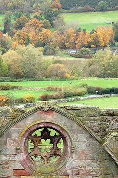 Melrose Abbey, Melrose, Scotland.