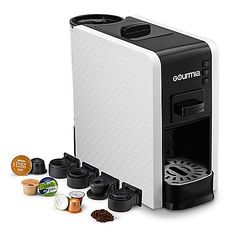 Adaptable to the most popular espresso pods, the Gourmia Multi Capsule Coffee Espresso Machine allows you to enjoy a different type of single serve coffee each day. Espresso Machine Reviews, Best Espresso Machine, Pod Coffee Makers, Coffee Pods, Coffee Van, Espresso Coffee, Coffee Printer, Miele Coffee Machine