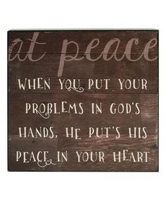 Love this 'At Peace' Box Sign on #zulily! #zulilyfinds