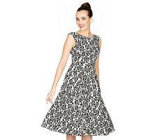 BLACK ROSE WHITE FLIRTY DRESS: Betsey Johnson