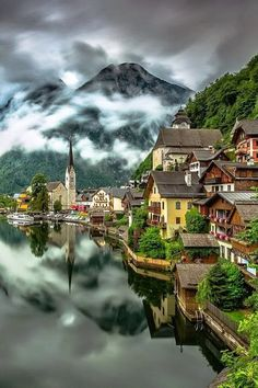 Happy Evening 🙋 Photo by Please check out my personal account for more travel & nature photos 🙏🙏 Hallstatt,Austria ❤ Places Around The World, The Places Youll Go, Travel Around The World, Places To See, Around The Worlds, Dream Vacations, Vacation Spots, Wonderful Places, Beautiful Places