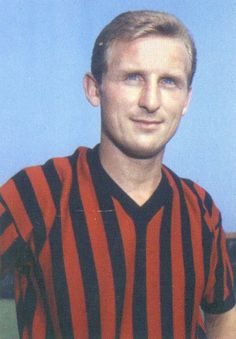 Trapattoni when he played for A.C. Milan