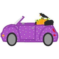 Pumpkin Car Applique - 3 Sizes! | Fall | Machine Embroidery Designs | SWAKembroidery.com Band to Bow