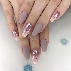 Tinged Short Almond Nails and Stilettos Nails - Fashion is an attitude. - Tinged Short Almond Nails and Stilettos Nails – Fashion is an attitude. Cute Acrylic Nails, Acrylic Nail Designs, Glitter Nails, Nail Art Designs, Nails Design, Perfect Nails, Gorgeous Nails, Fancy Nails, Cute Nails