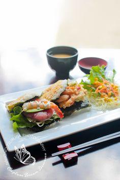 Japanese food rice burger