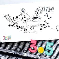 Doodle 41/365: Hot Dog #365doodleswithjohannafritz by johannafritzillustration