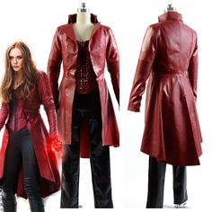 Avengers Captain America Civil War Scarlet Witch Wanda Cosplay Costume Dress Set