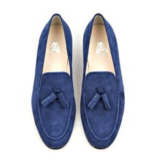 Axel Arigato navy suede tassel slipper with calf leather lining and footbed for extra comfort. Navy suede trim and upper material in suede. Men's Shoes, Shoe Boots, Dress Shoes, Axel Arigato, Walk In My Shoes, Desert Boots, Classic Man, Shoe Collection, Calf Leather