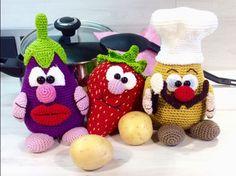 Die Küchenprofis Pelle, Gini, Berry - Häkelanleitung
