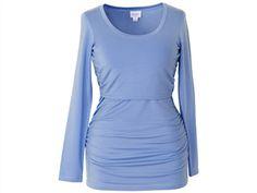 Still Shirt Langarm von boob, hellblau, Gr.S (34/36) - Seidenweich dank 95% Lyocell und 5 % Elasthan