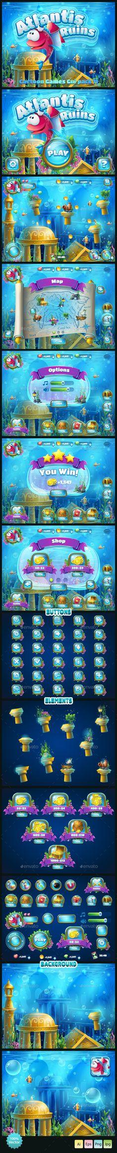 Atlantis Ruins GUI (User Interfaces)