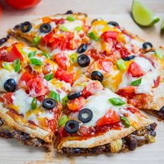 Taco Quesadilla Pizzas Recipe | Key Ingredient