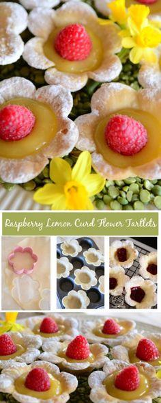 RASPBERRY LEMON CURD FLOWER TARTLETS - StoneGable