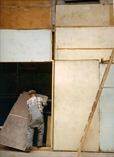 Mondrian Worker, Photo by Saul Leiter, 1954