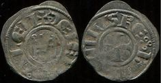 Uma moeda de Jerusalém do período do reinado de Balduíno IV (1173-1185).