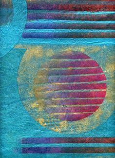 Judy Merchant Six Circles 88 x 75 cms Fabric, paint and machine stitch