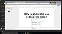 Google Slides doesn't officially support audio tracks, but we have a couple of workarounds.