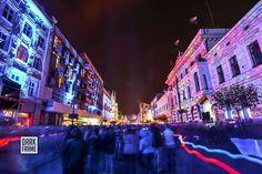 Łódź Poland Light Move Festival Poland, Times Square, City, Travel, Viajes, Cities, Destinations, Traveling, Trips