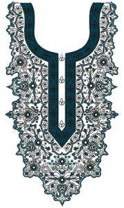 9331 Neck Embroidery Design