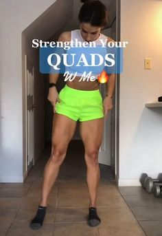 Fitness Workouts, Gym Workout Videos, Fitness Workout For Women, Sport Fitness, Yoga Fitness, Quad Exercises, Thigh Exercises, Leg And Glute Workout, Workout Challenge