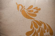 peacock pillow contact paper stencil