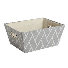 The Grainhouse™ Gray Woven Storage Bin - Christmas Tree Shops and That! - Home Decor, Furniture & Gifts Store Tree Shop, Carriage House, Gift Store, Grey Fabric, Fabric Patterns, Shops, Christmas Tree, Gray, Bathroom