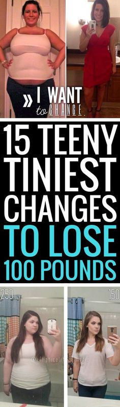 15 teeny tiny changes to lose weight fast.