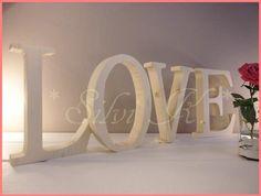 ♥LOVE♥  21,5cm hoch  4tlg Buchstaben naturbelassen von Silvi K. auf DaWanda.com