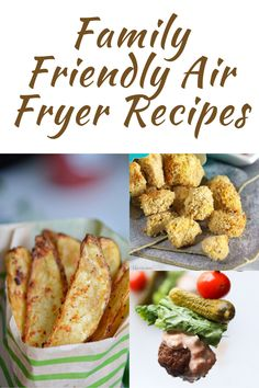 Easy Air Fryer Recipes – Not So Crafty Momma Healthy Appetizers, Healthy Recipes, Yummy Recipes, Great Recipes, Cooking Recipes, What's Cooking, Whole Food Recipes, Healthy Family Dinners, Easy Meals
